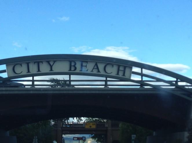 city beach sign