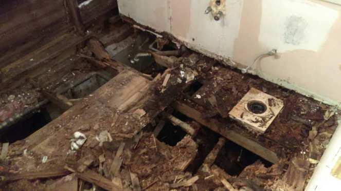 Bath damage