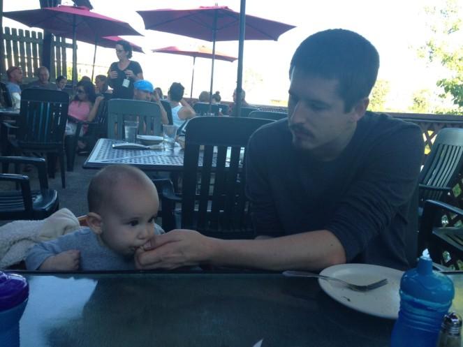 daddy feeding lulu