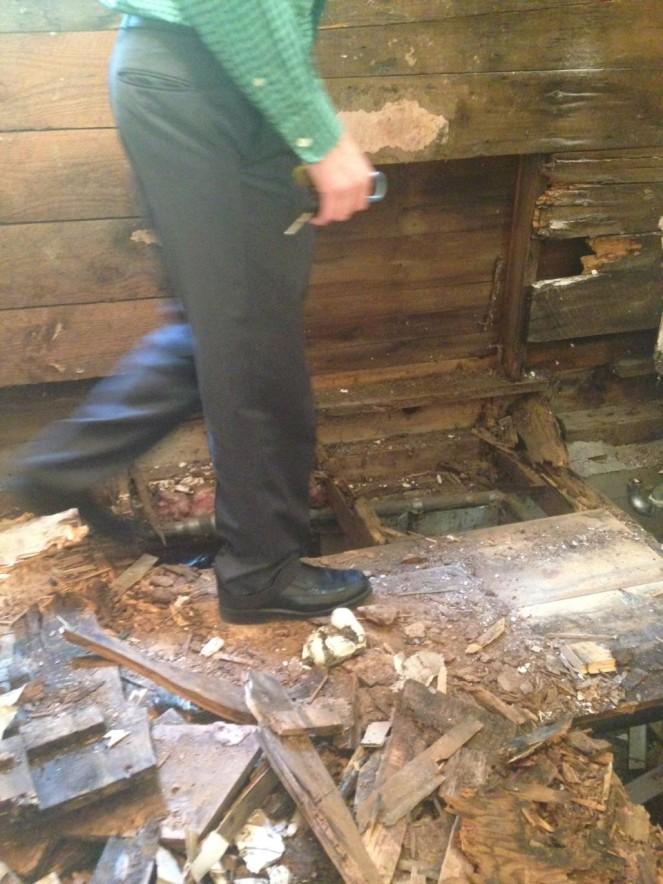 danny walking on floor