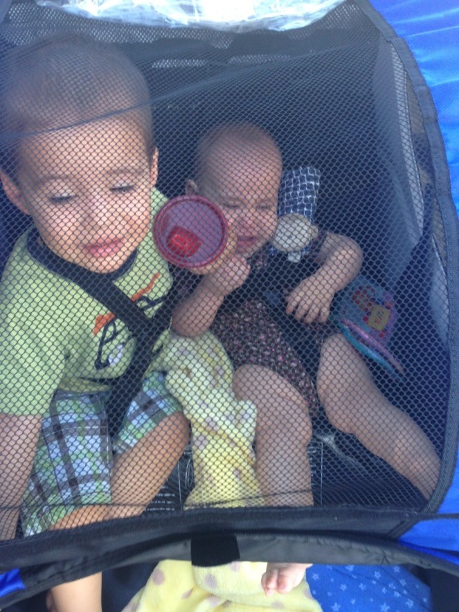kiddos in stroller