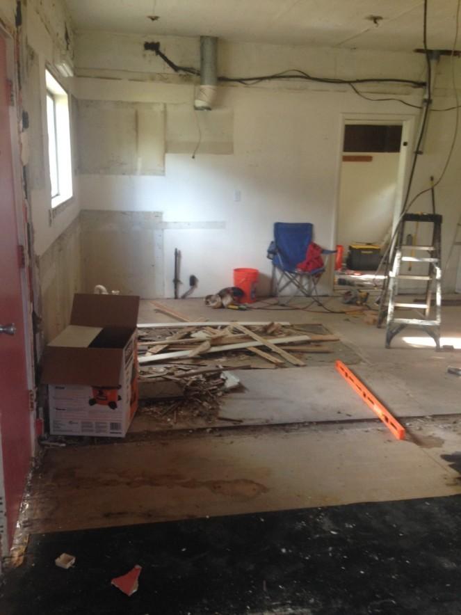 torn kitchen